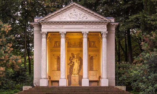 Minervatempel im Schlossgarten Schwetzingen; Foto: Landesamt für Denkmalpflege, Bernd Hausner
