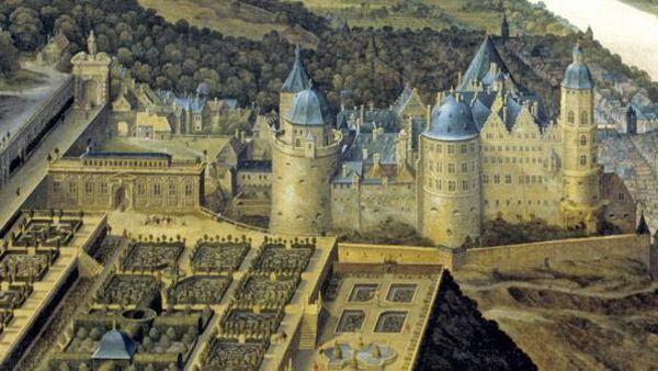 Gemälde des Hortus Palatinus von Schloss Heidelberg, Jacques Fouquier, 1619