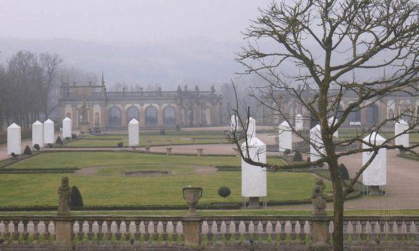 Schloss Weikersheim, Schlossgarten im Winter
